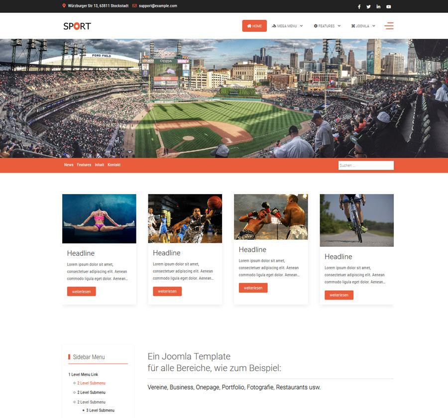 Sport Joomla Template